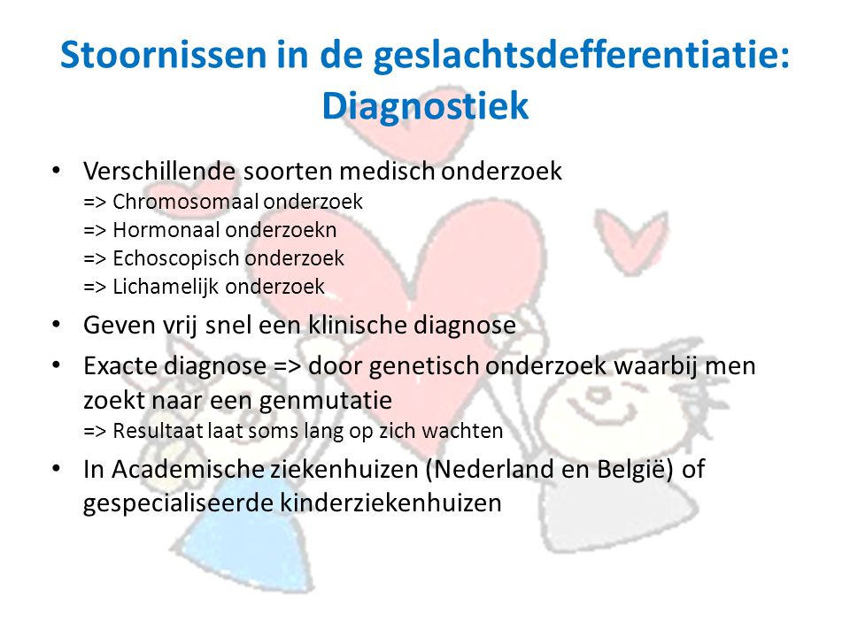 Stoornissen in de geslachtsdefferentiatie: Diagnostiek