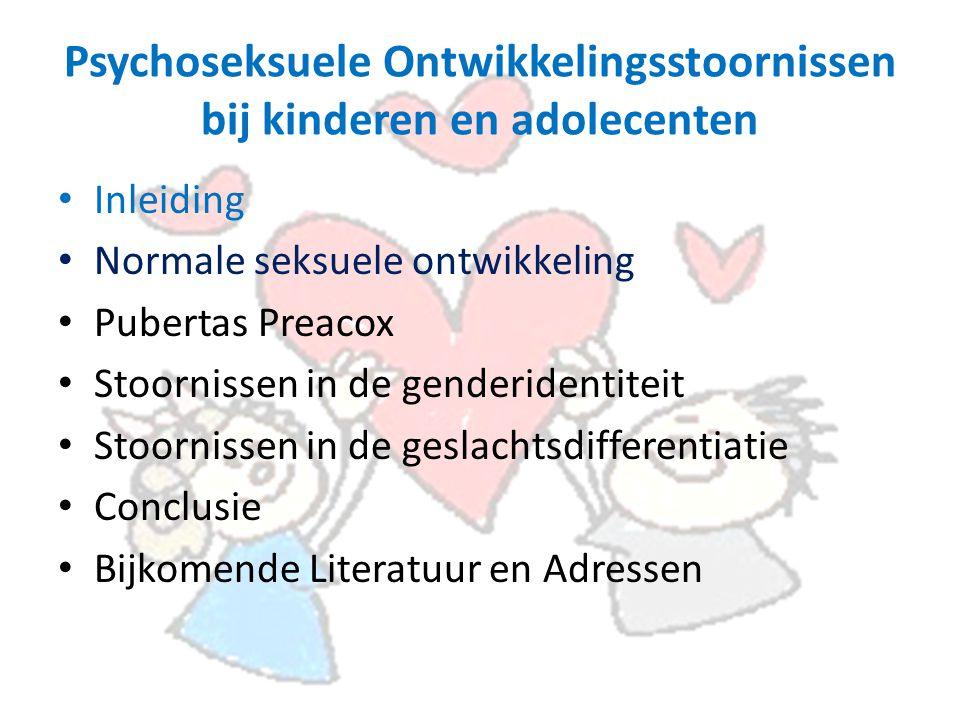 Psychoseksuele Ontwikkelingsstoornissen bij kinderen en adolecenten