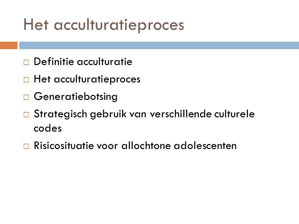 Het acculturatieproces