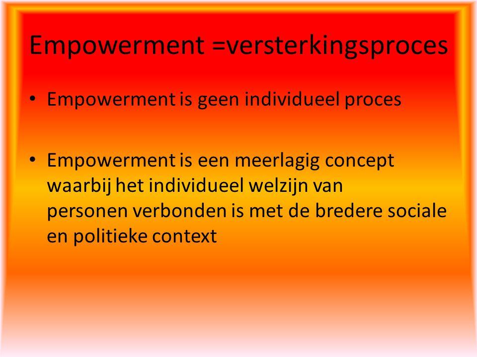 Empowerment =versterkingsproces