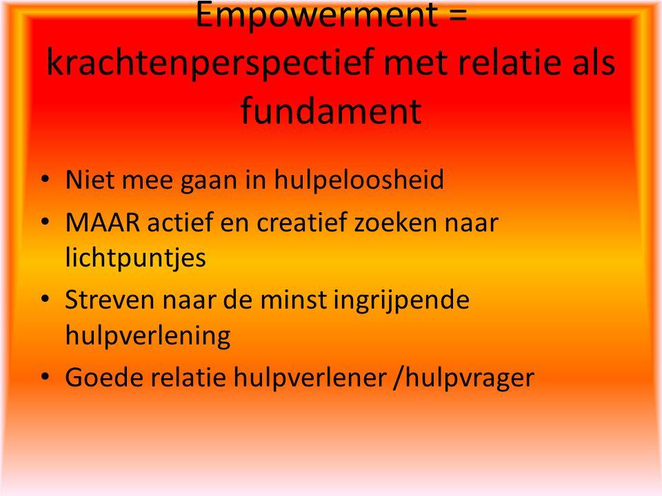 Empowerment = krachtenperspectief met relatie als fundament