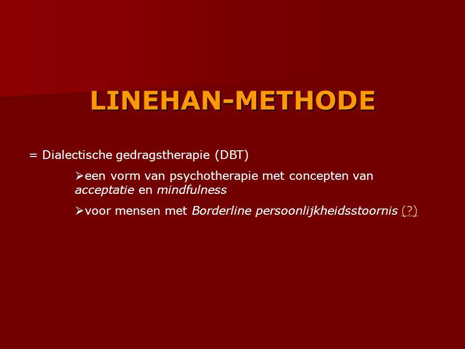 LINEHAN-METHODE = Dialectische gedragstherapie (DBT)
