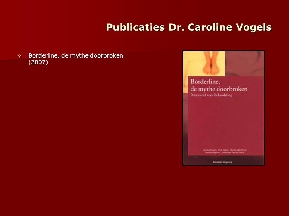 Publicaties Dr. Caroline Vogels