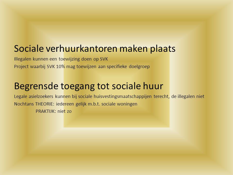 Sociale verhuurkantoren maken plaats