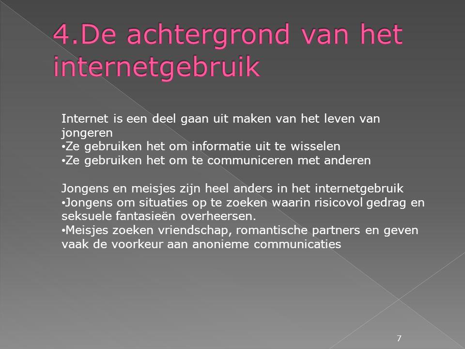 4.De achtergrond van het internetgebruik