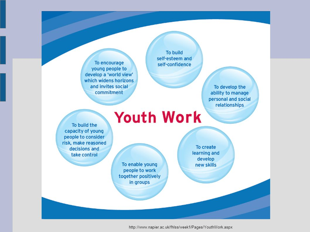 http://www.napier.ac.uk/fhlss/week1/Pages/YouthWork.aspx
