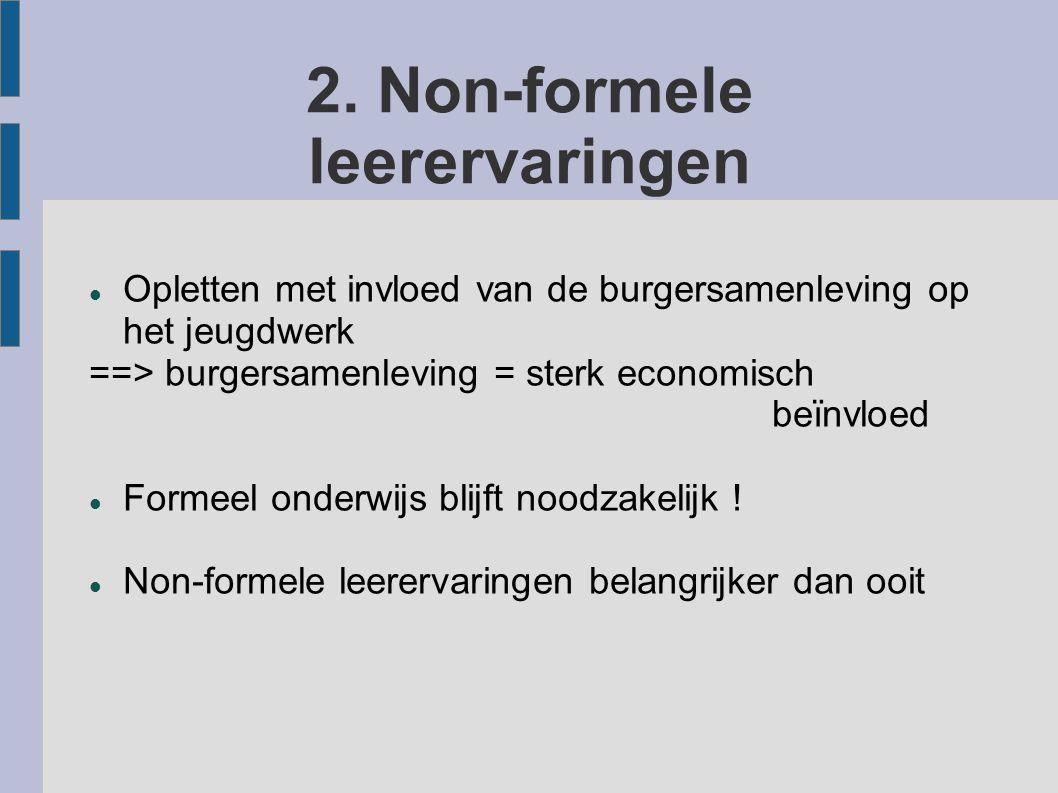 2. Non-formele leerervaringen