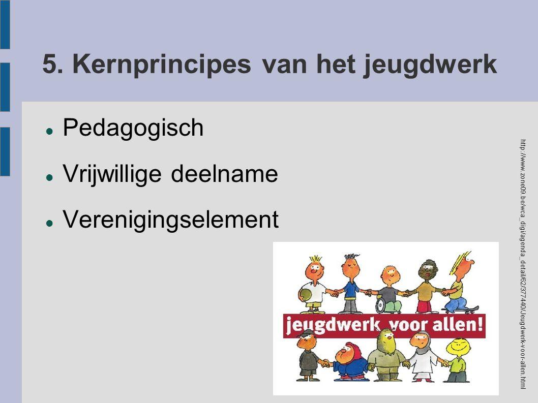 5. Kernprincipes van het jeugdwerk