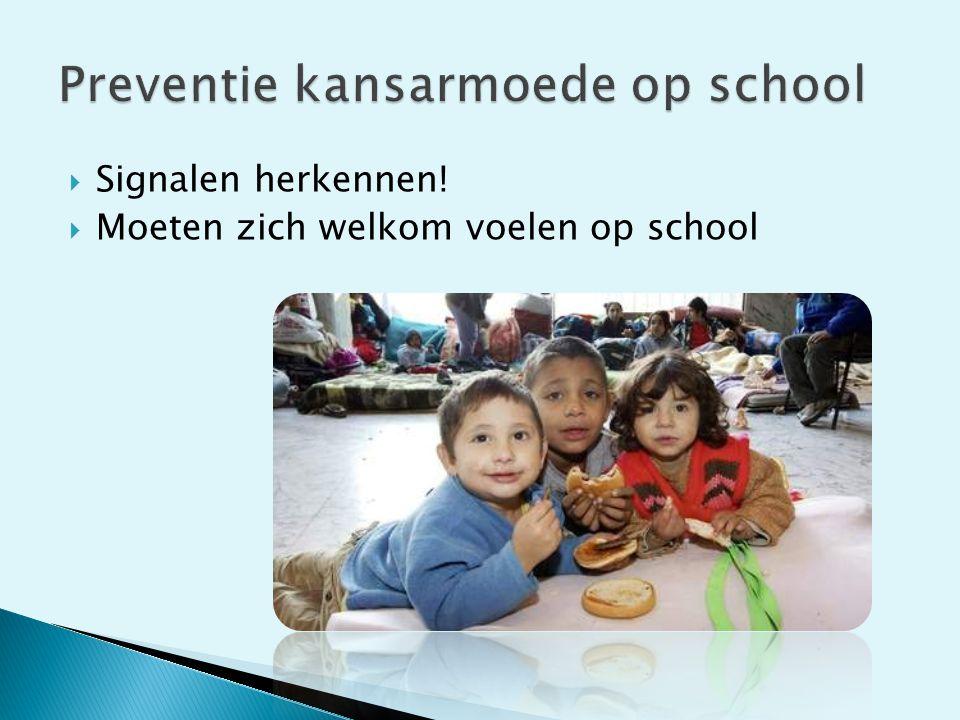 Preventie kansarmoede op school