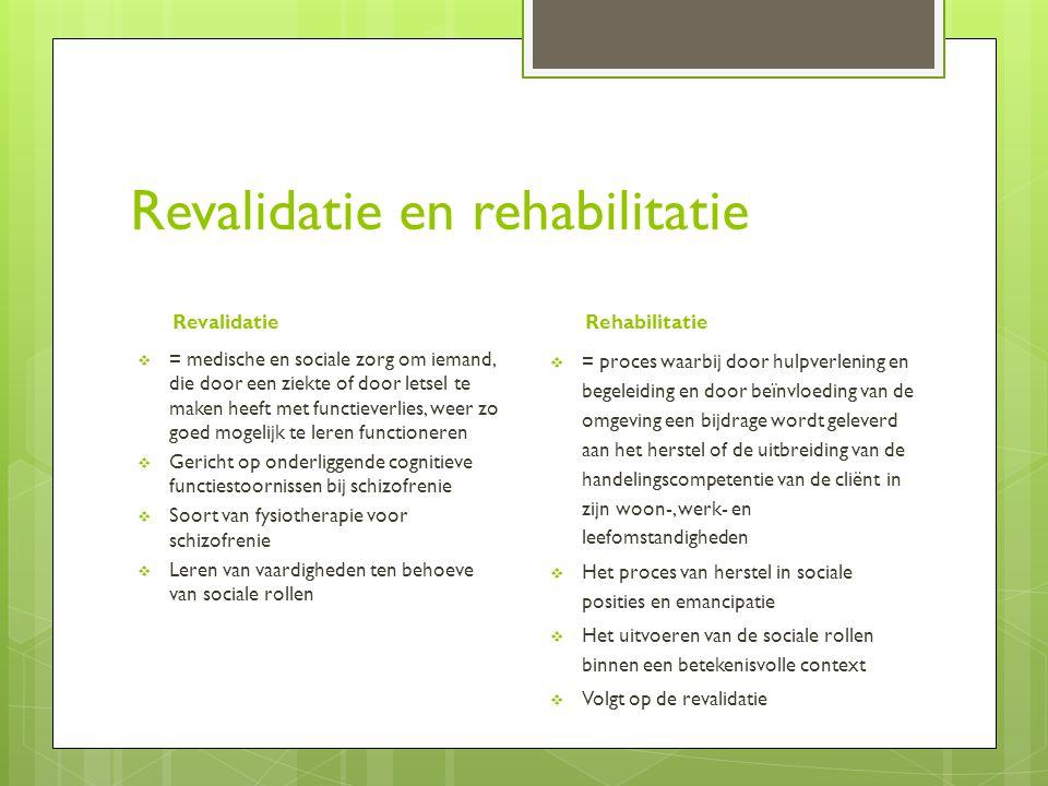 Revalidatie en rehabilitatie