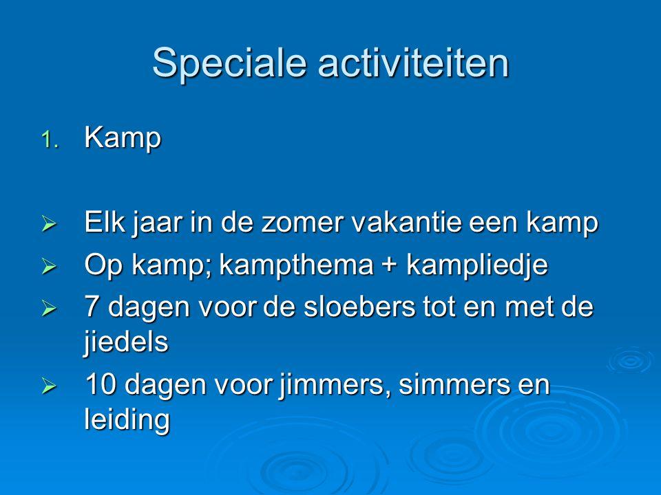 Speciale activiteiten