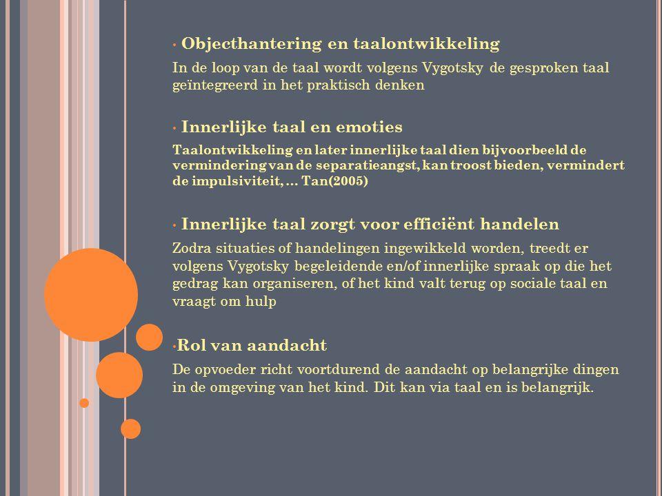 Objecthantering en taalontwikkeling