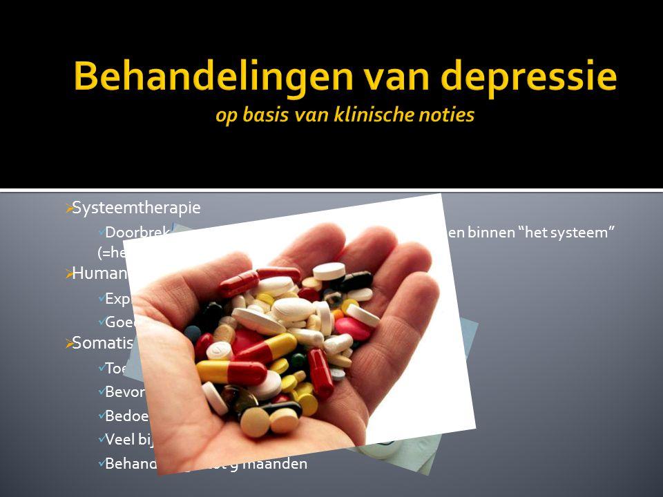 Behandelingen van depressie op basis van klinische noties