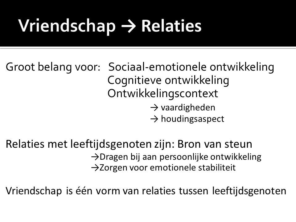 Vriendschap → Relaties