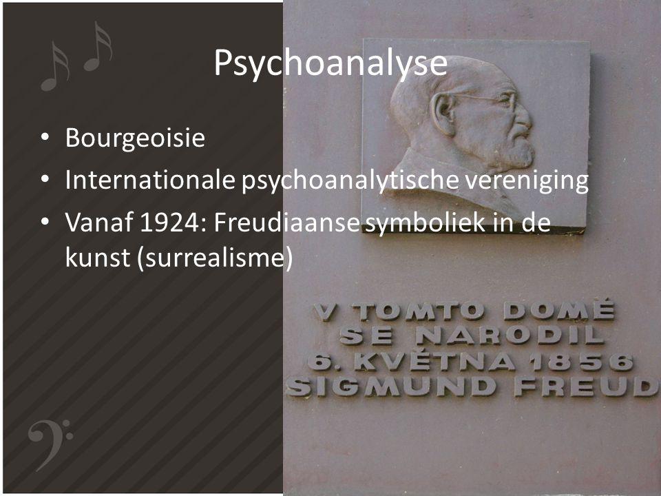 Psychoanalyse Bourgeoisie Internationale psychoanalytische vereniging