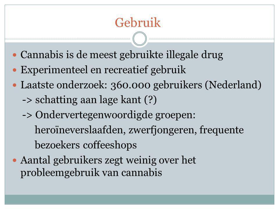 Gebruik Cannabis is de meest gebruikte illegale drug