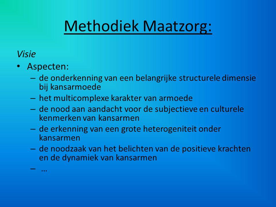Methodiek Maatzorg: Visie Aspecten: