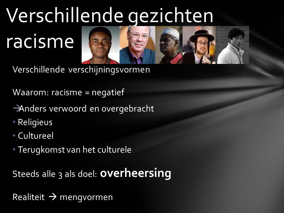 Verschillende gezichten racisme