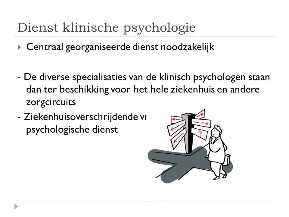 Dienst klinische psychologie