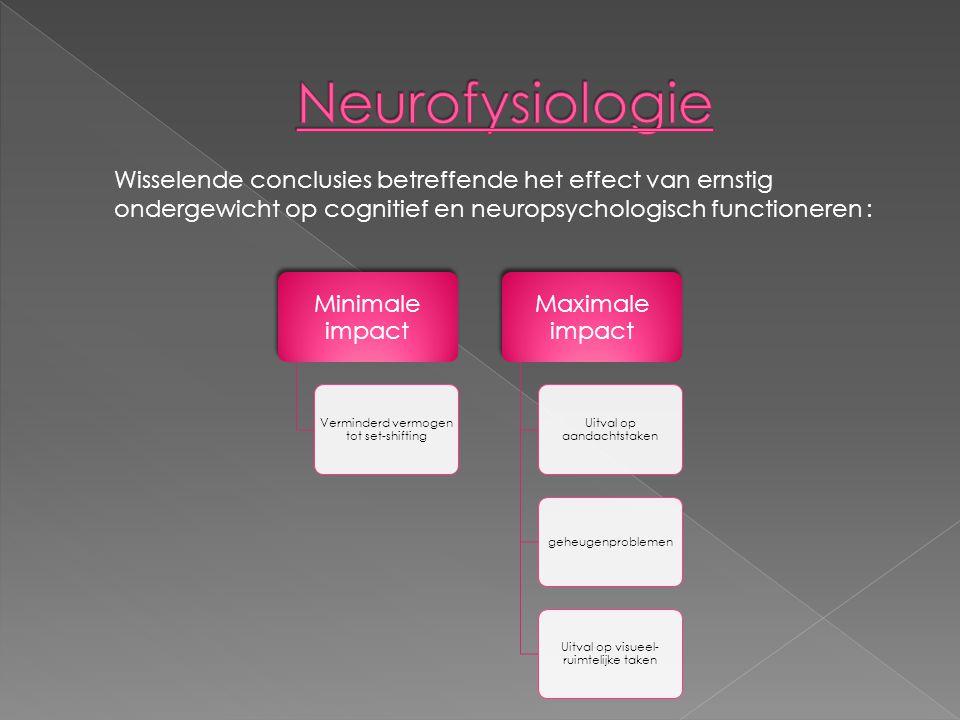 Neurofysiologie Wisselende conclusies betreffende het effect van ernstig ondergewicht op cognitief en neuropsychologisch functioneren :
