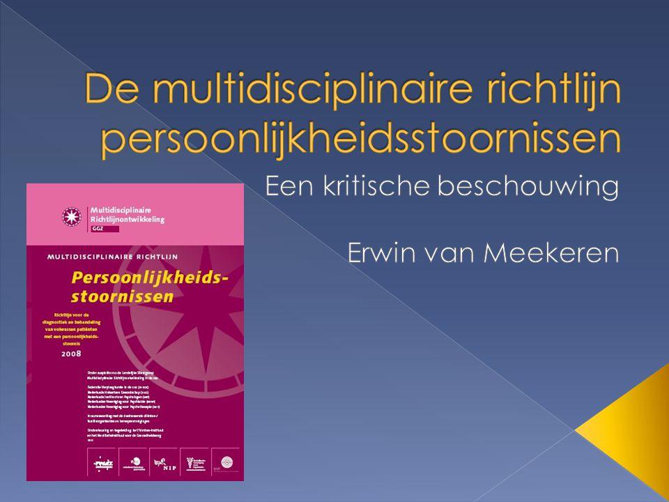 De multidisciplinaire richtlijn persoonlijkheidsstoornissen