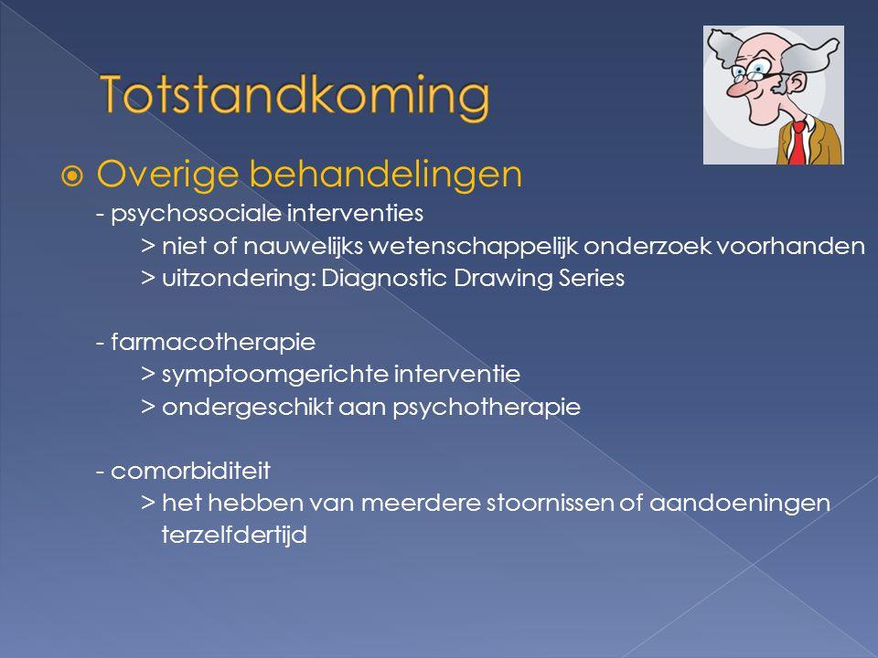 Totstandkoming Overige behandelingen - psychosociale interventies