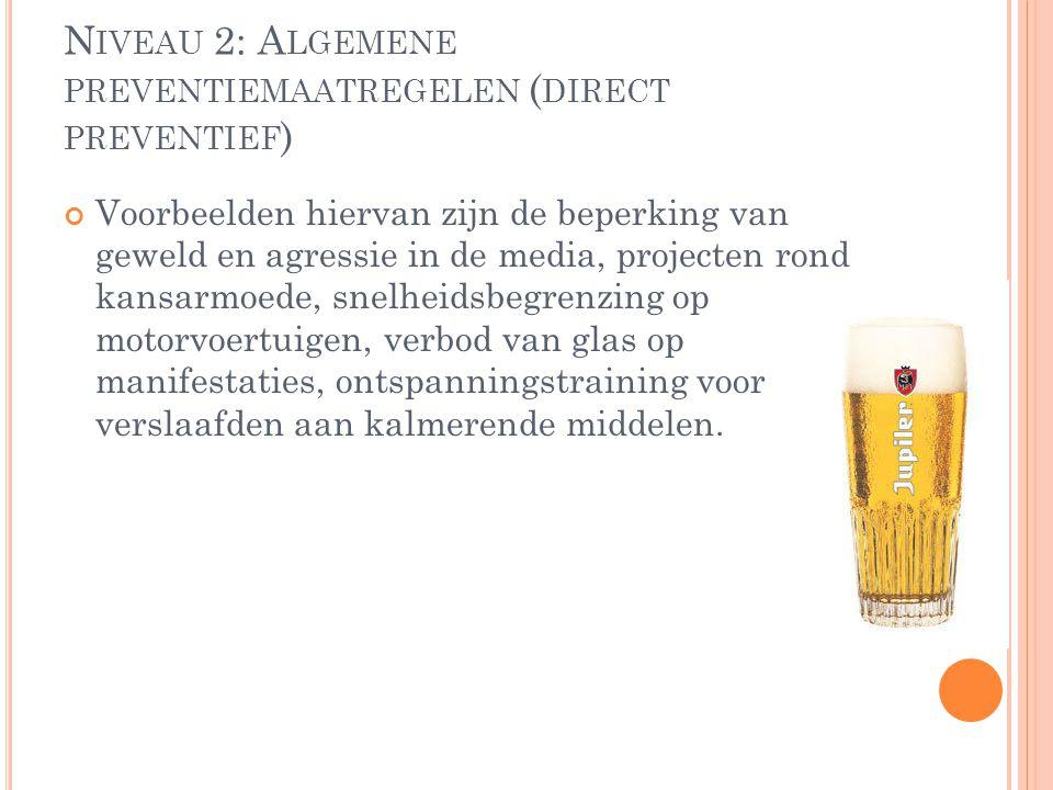 Niveau 2: Algemene preventiemaatregelen (direct preventief)
