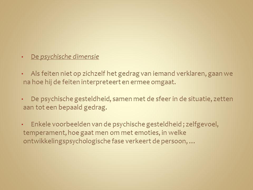 De psychische dimensie