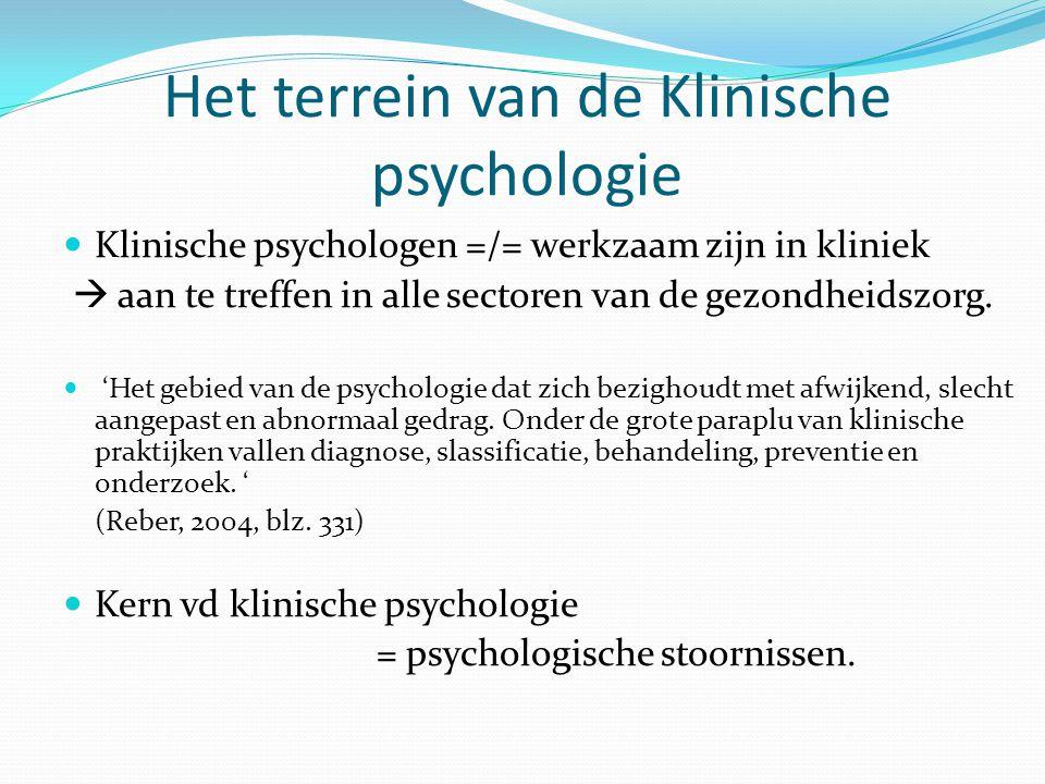 Het terrein van de Klinische psychologie