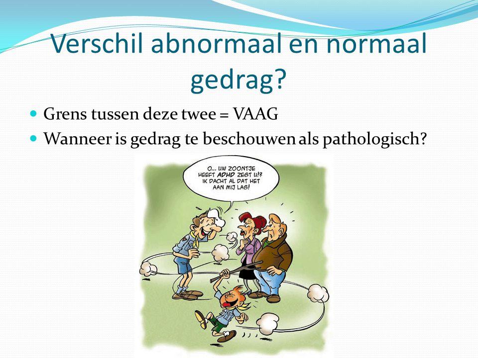 Verschil abnormaal en normaal gedrag