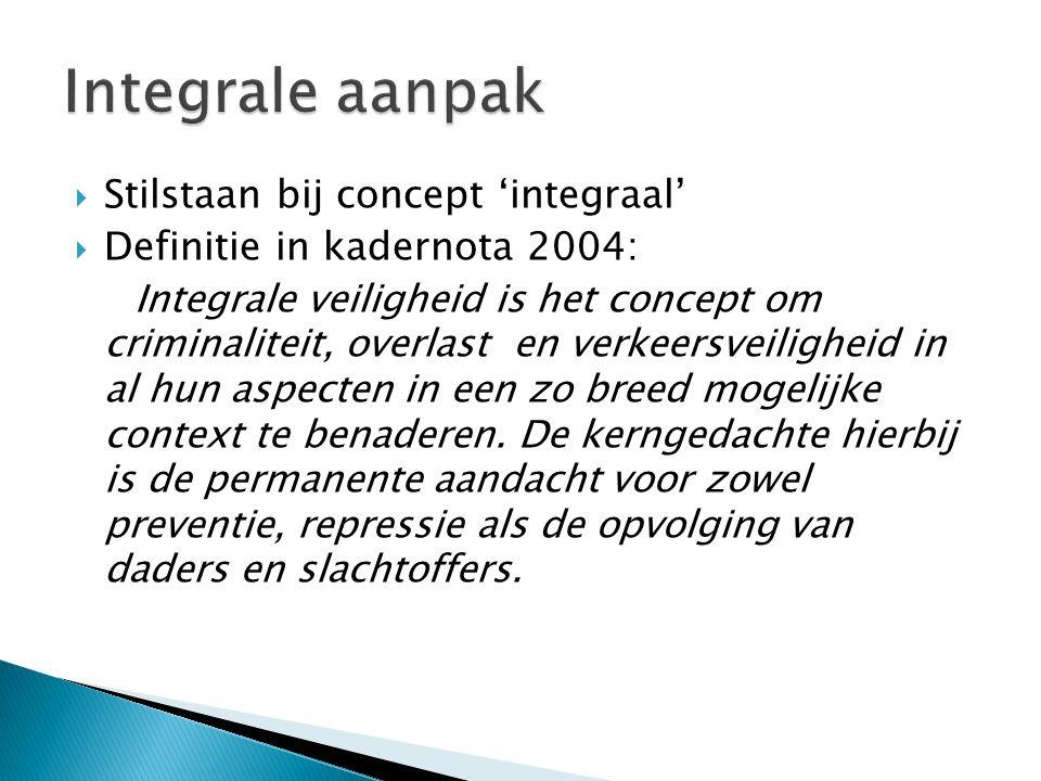 Integrale aanpak Stilstaan bij concept 'integraal'