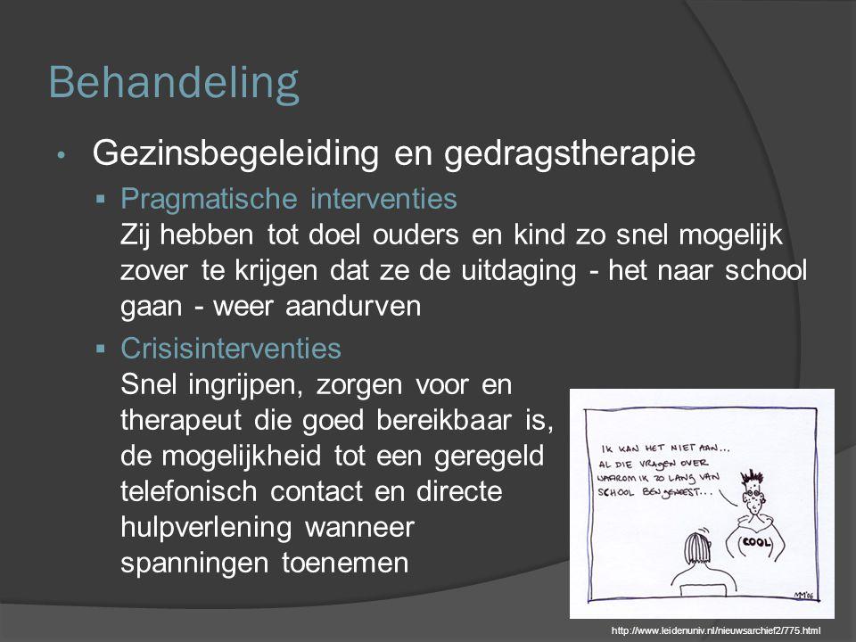 Behandeling Gezinsbegeleiding en gedragstherapie