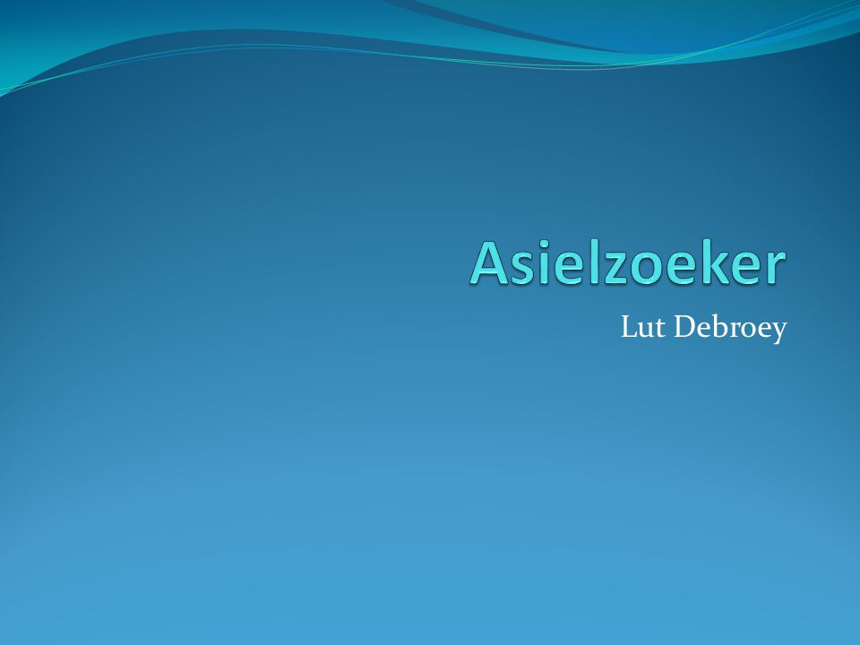 Asielzoeker Lut Debroey