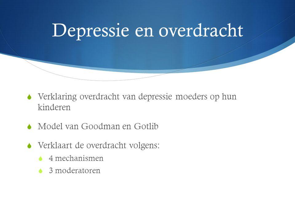 Depressie en overdracht