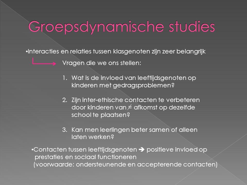 Groepsdynamische studies