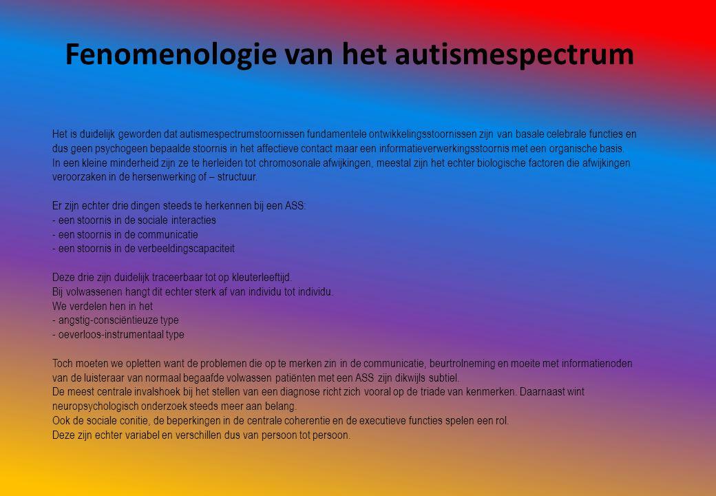 Fenomenologie van het autismespectrum
