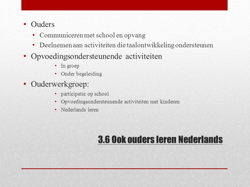 3.6 Ook ouders leren Nederlands