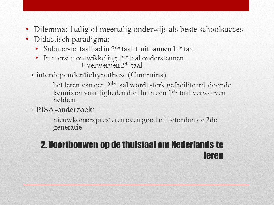 2. Voortbouwen op de thuistaal om Nederlands te leren