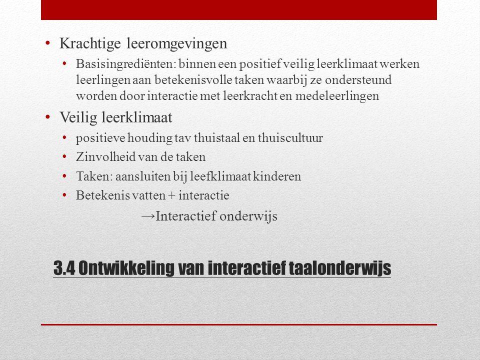 3.4 Ontwikkeling van interactief taalonderwijs