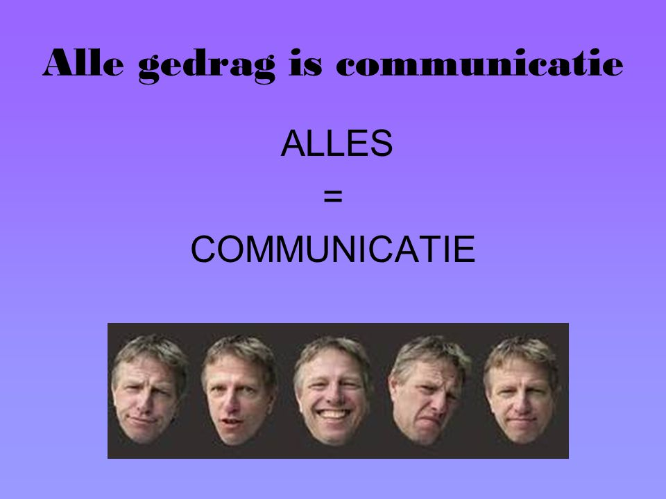 Alle gedrag is communicatie