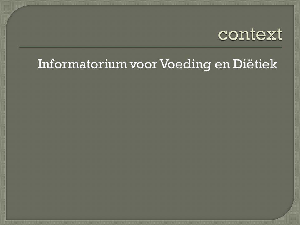 context Informatorium voor Voeding en Diëtiek