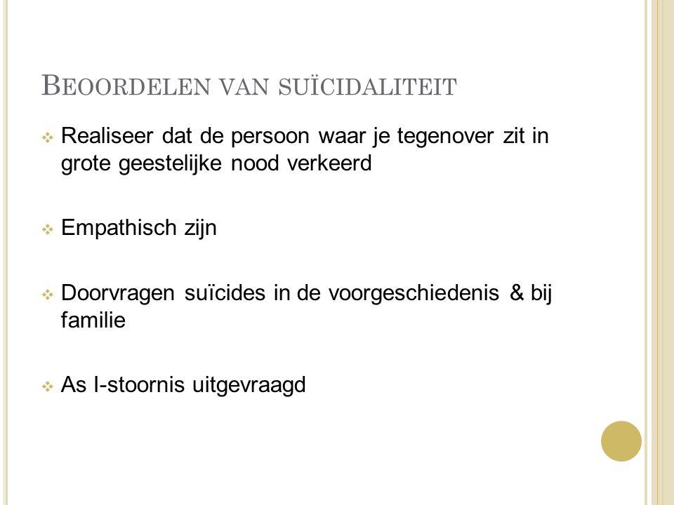 Beoordelen van suïcidaliteit