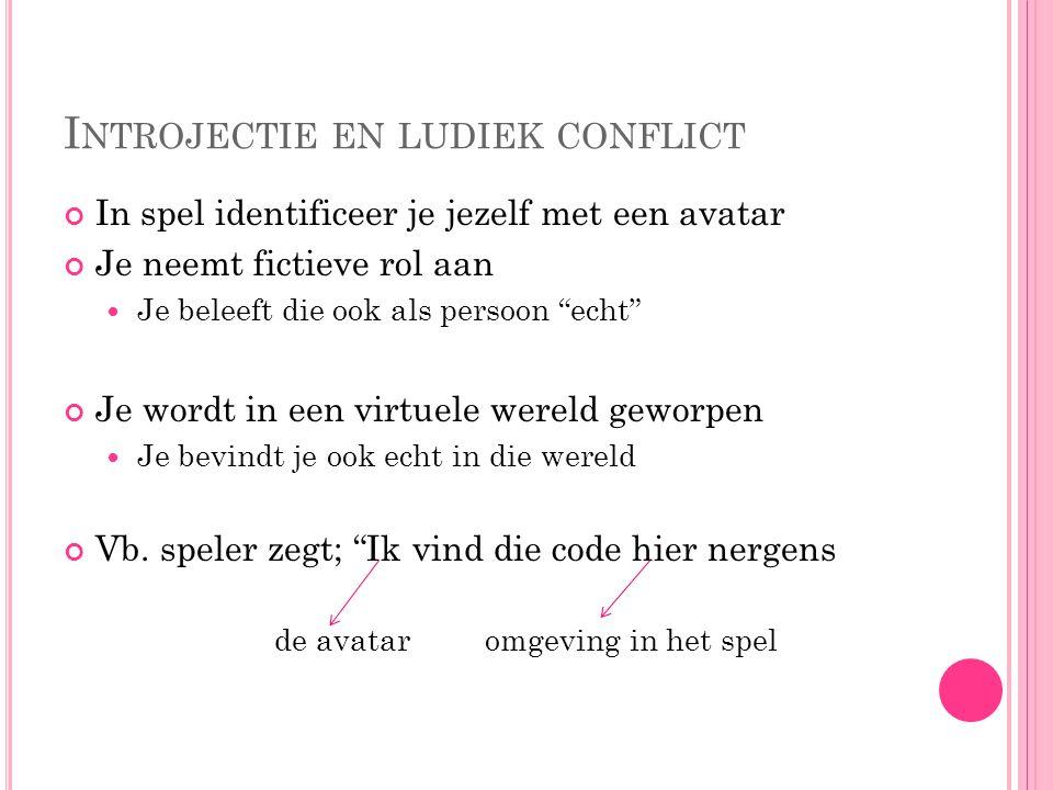 Introjectie en ludiek conflict