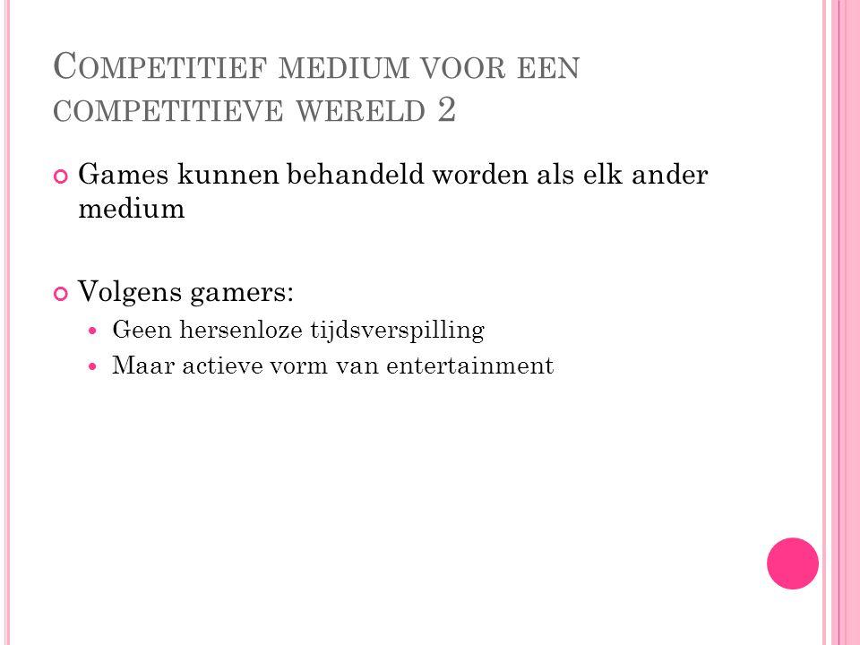 Competitief medium voor een competitieve wereld 2