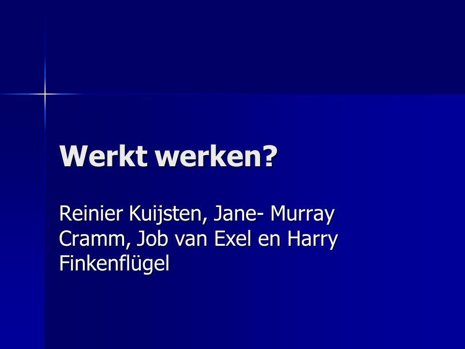 Werkt werken Reinier Kuijsten, Jane- Murray Cramm, Job van Exel en Harry Finkenflügel