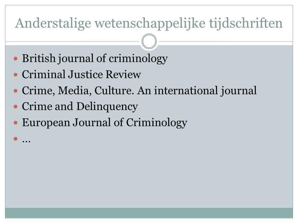 Anderstalige wetenschappelijke tijdschriften