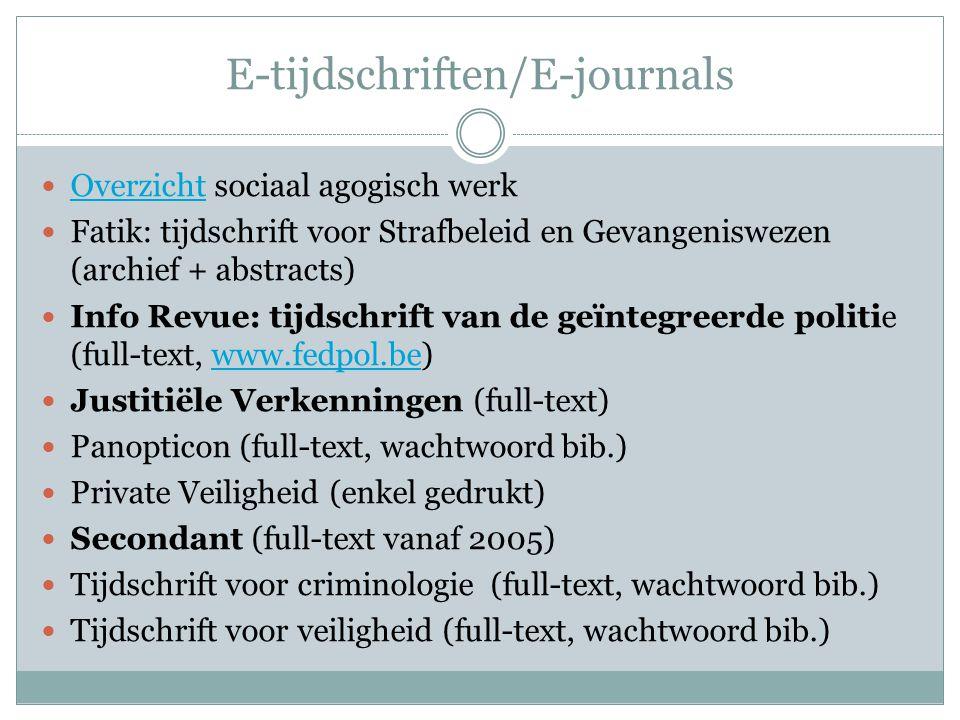 E-tijdschriften/E-journals