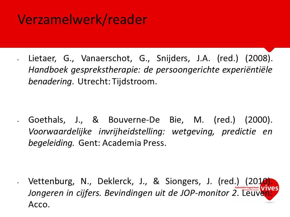 Verzamelwerk/reader