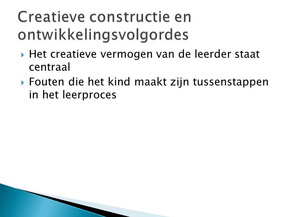 Creatieve constructie en ontwikkelingsvolgordes