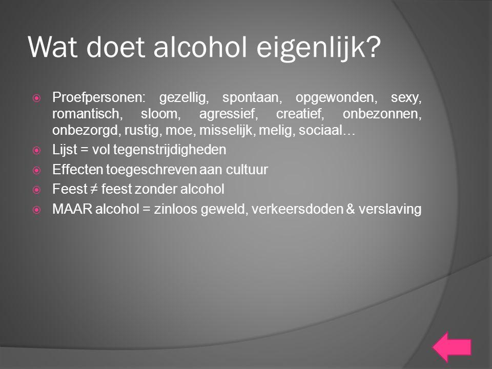 Wat doet alcohol eigenlijk